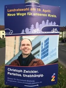 Wahlplakat von Christoph Zwickler.