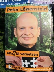 Wahlplakat von Peter Löwenstein.